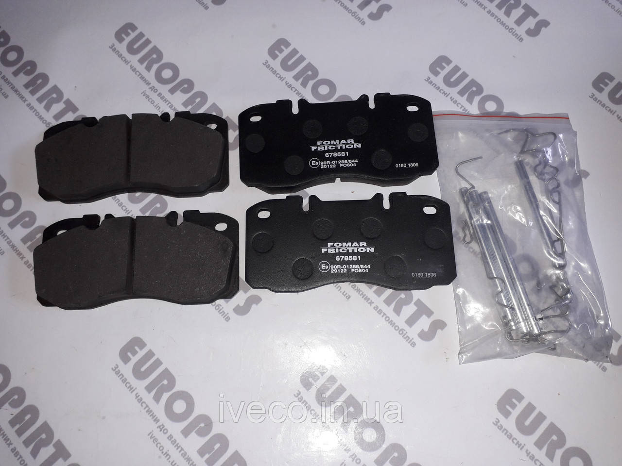 Колодки тормозные IVECO EUROCARGO I-III Ивеко Еврокарго 1906416 42555669 29122