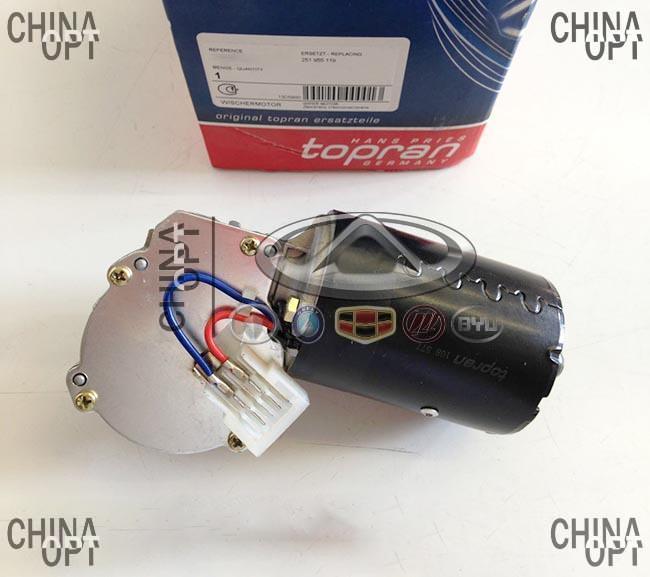 Мотор стеклоочистителя, мотор дворников, Chery Amulet [до 2012г.,1.5], A11-3741011, Topran