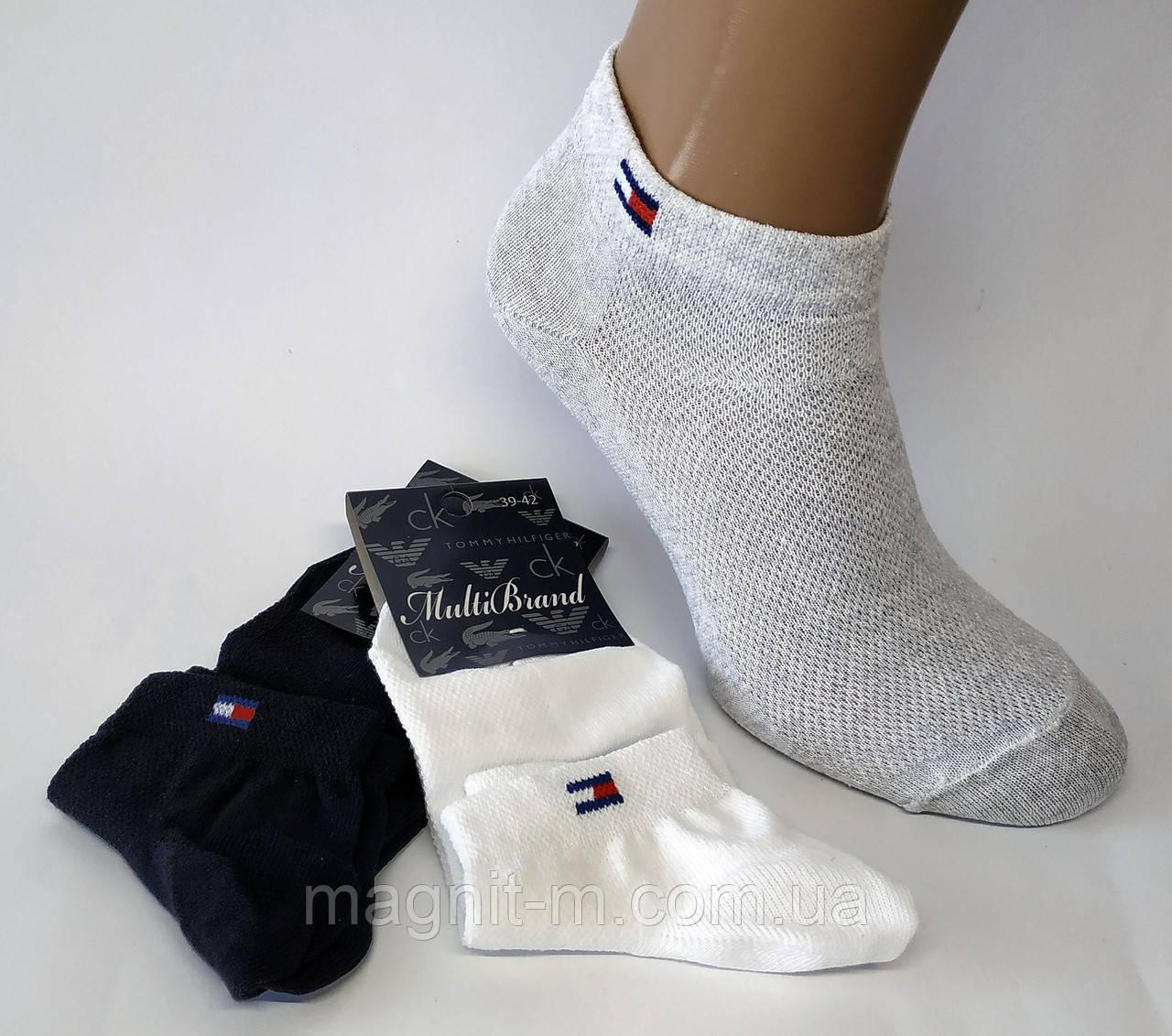 Носки мужские летние со вставками из сетки.  Р-р 42-45. Черный, серый, белый.
