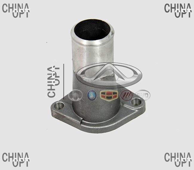 Фланец водяной головки блока нижний, крышка корпуса термостата, Great Wall Safe [G5], 1300021-E00, Original parts