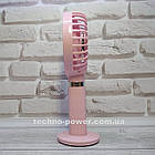 Портативный мини-вентилятор Handy Fan S8 Pink. Ручной вентилятор с аккумулятором S8 Розовый, фото 3