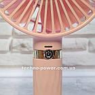 Портативный мини-вентилятор Handy Fan S8 Pink. Ручной вентилятор с аккумулятором S8 Розовый, фото 6