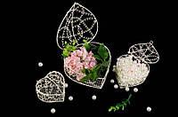 "Металлическая клетка ""Jacaranda"" для декора, набор из 4шт, бежевая, 8.5х14х14.5см, 7х12х12см, 6х10х10см, 5х7х8см, Декор металлический, Декоративная"