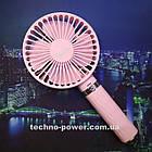 Портативный мини-вентилятор Handy Fan S8 Pink. Ручной вентилятор с аккумулятором S8 Розовый, фото 9