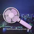 Портативный мини-вентилятор Handy Fan S8 Violet. Ручной вентилятор с аккумулятором S8 Фиолетовый, фото 10