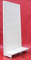 Торговые стеллажи перфорированные «Колумб» 210х100 см. (Украина), кремово-белый, Б/у , фото 1