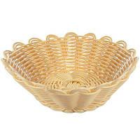 Корзинка для хлеба Sorrel R85144 круглая, 18см, белая, хлебница, корзинка плетеная, хлебницы без крышки