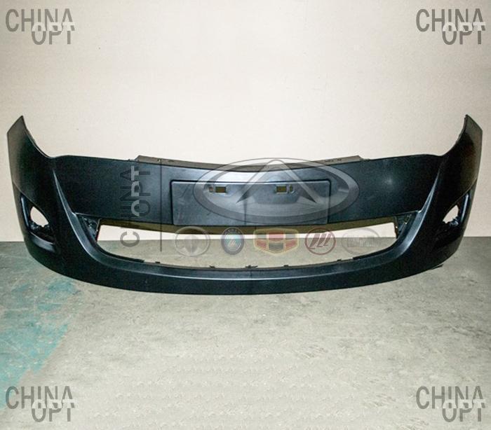 Бампер передний, пластик, черный, не крашеный, Chery A13, Forza [Sedan], A13-2803501-DQ, FPS