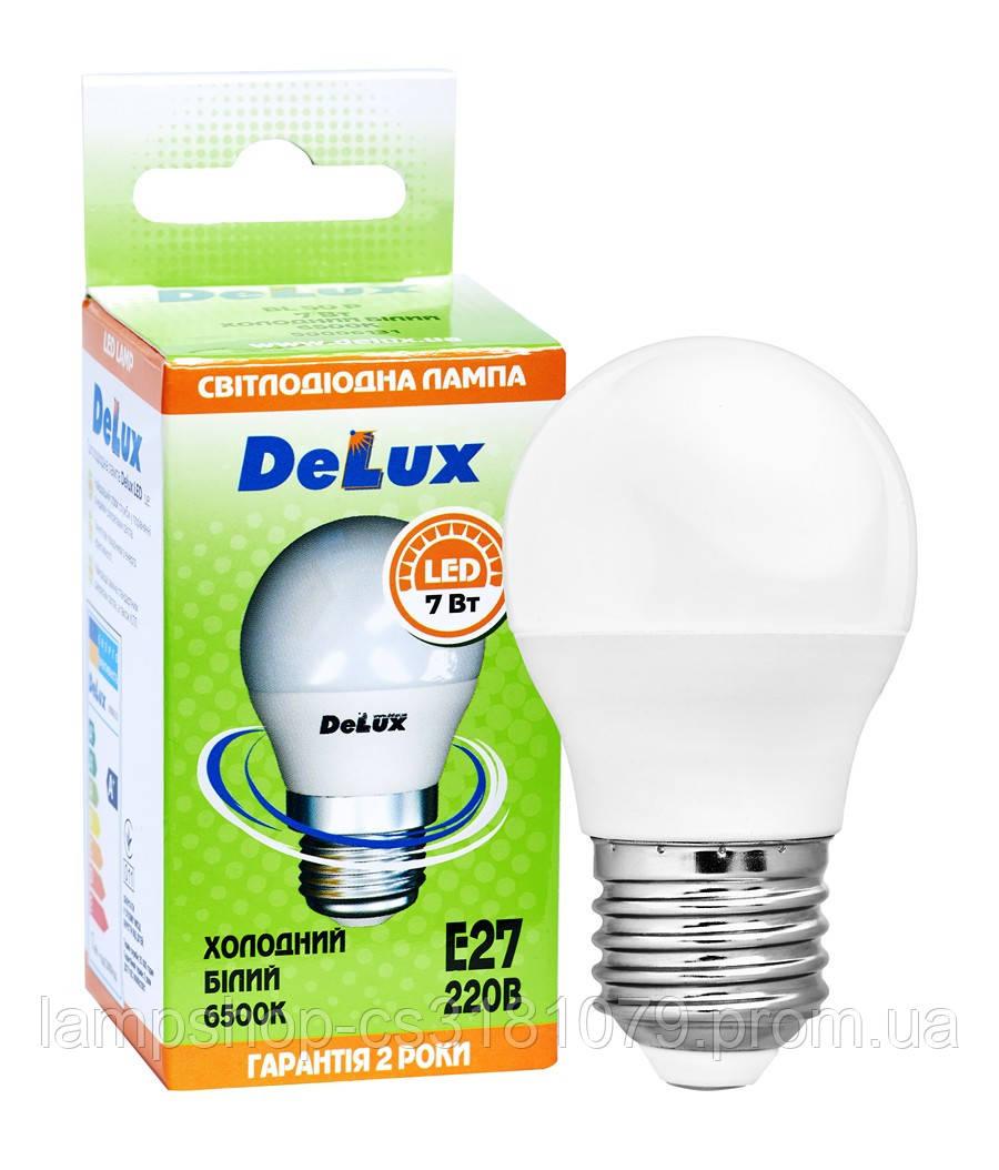 Лампа светодиодная DELUX BL50P 7 Вт 6500K 220В E27 холодный белый