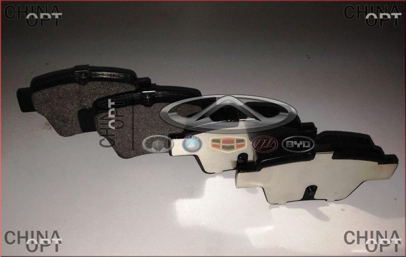 Колодки тормозные задние, дисковые, Geely EC7[1.8], 1064001725, Aftermarket