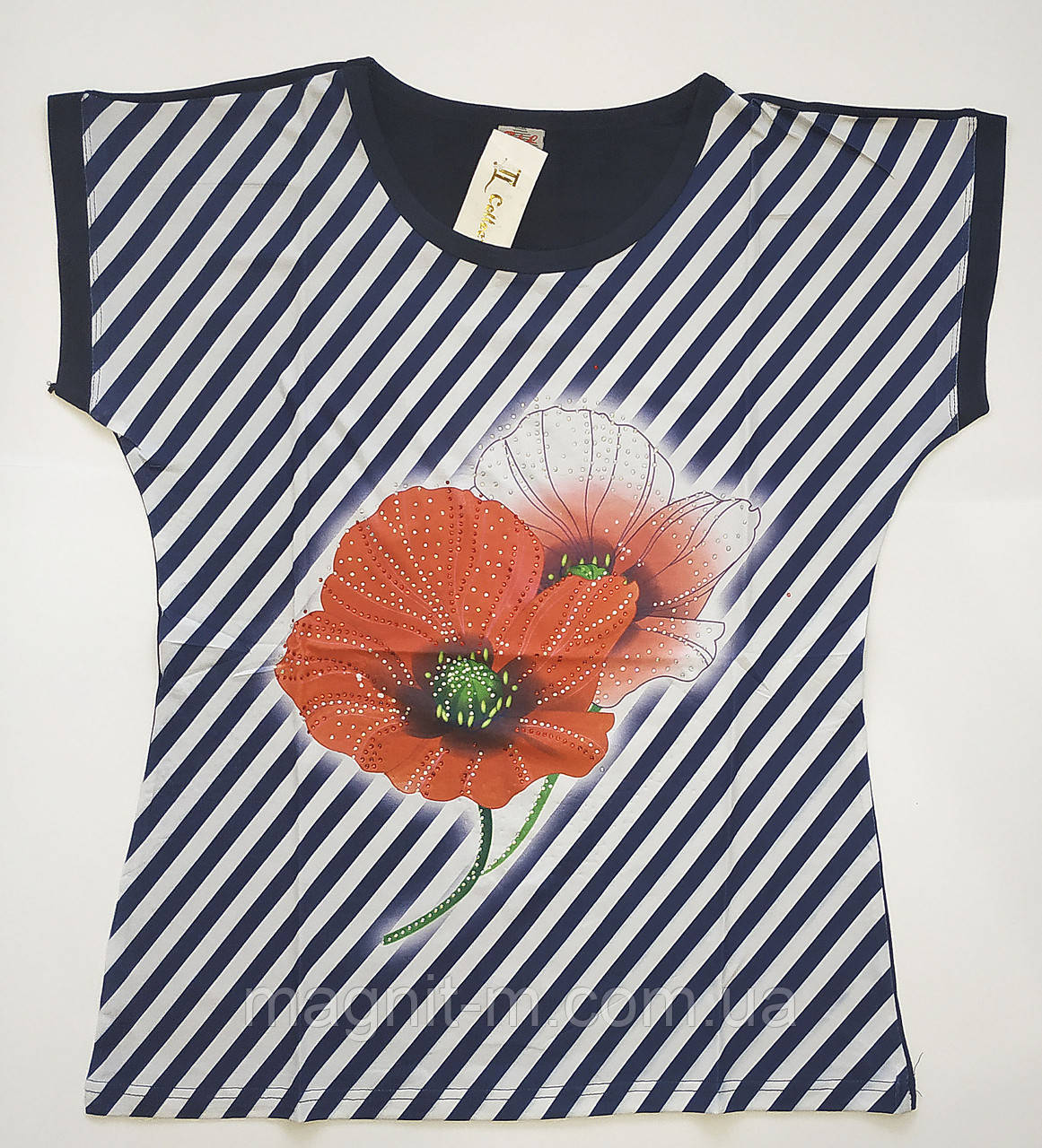 "Женская футболка ""Collection"". Маки. № А166."
