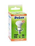 Лампа светодиодная DELUX FC1 6 Вт R50 2700K 220В E14 теплый белый, фото 3