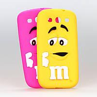 Чехол M&M's желтый 3D силиконовый высококачественный для Samsung Galaxy A3/A300/A3000, фото 1