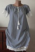 Платье полоска крестьянка, фото 1