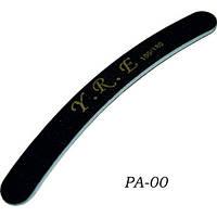Пилка для ногтей YRE PA-00 изогнутая черная, 100-180 грит, 50 шт в упакаковке, пилочка для ногтей, пилка для маникюра, пилки для полировки и шлифовки