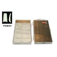 Типсы для наращивания ногтей YRE YTAM-01 матовые (м/к), 100 шт в уп, профессиональные типсы для наращивания, типсы для ногтей