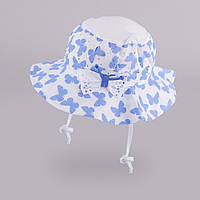 Панама для девочки без завязок 109 TuTu арт. 3-002301(50-52) 50-52, Голубой