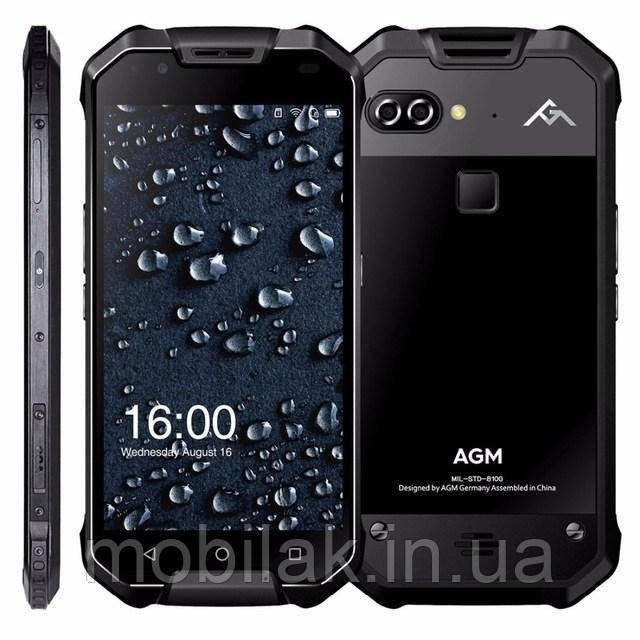 Защищённый смартфон AGM X2 6/128 Гб Black glass