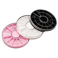 Контейнер-карусель для стразов jar KKM-00, пластмасовая, маленькая, цветная, Баночки
