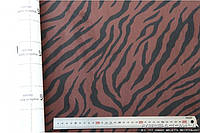 Алькантара самоклеющаяся Decoin (Корея) зебра коричневый 145х10см