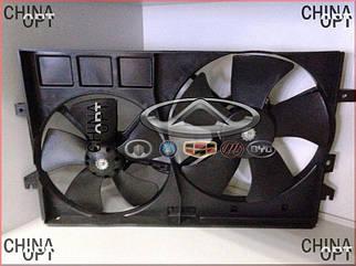 Дифузор радиатора, в сборе с вентиляторами, Geely EC7RV[1.5,HB], 1016014213, Aftermarket