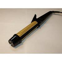Плойка-круглая для накрутки волос SN-771, черно-золотой, 2 в 1 плойка и утюжок для волос, мощность 220 В, диаметр 32 мм, покрытие керамика, кабеля 2 м