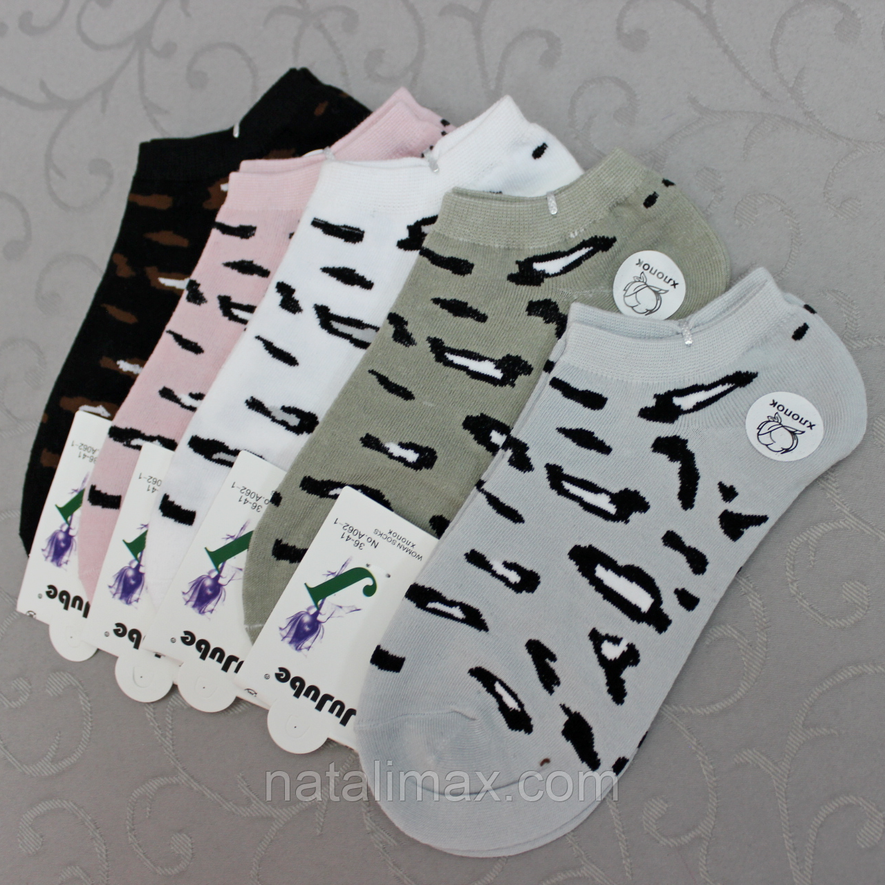"""Укороченные женские носки """"JuJube"""", 36-41 р-р .  Женские носочки, носки для женщин короткие"""