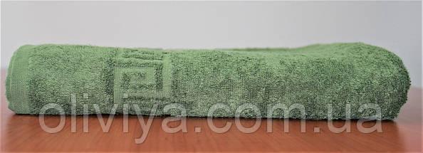 Полотенце банное и пляжное темно-зеленое, фото 3