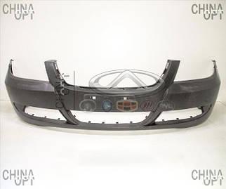 Бампер передний, пластик, черный, не крашеный, Lifan 620 [Solano], B2803110, Aftermarket