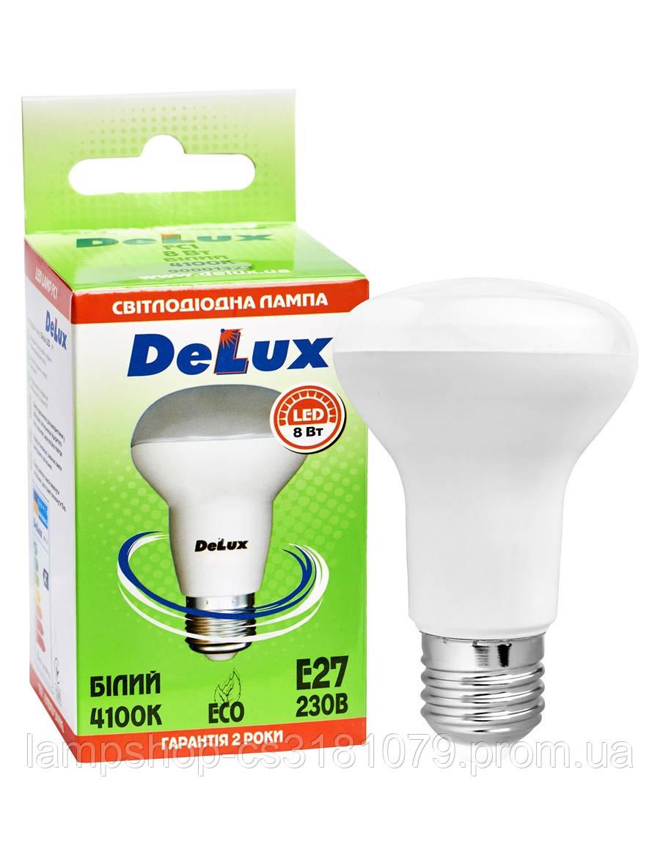 Лампа светодиодная DELUX FC1 8 Вт R63 4100K 220В E27 белый
