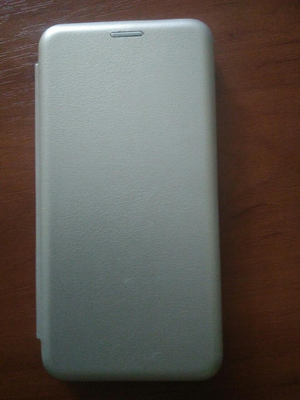 Чехол- книга Premium для Xiaomi Redmi 7  (серебро)