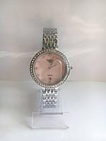 Женские наручные часы Tissot (Тиссот), серебристо-розовый цвет
