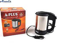 Автомобильный чайник A-Plus ЕК-1649 12V 500мл нержавейка