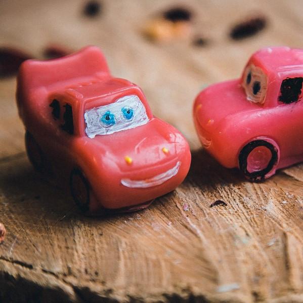 Мыло ручной работы детское Тачка Маквин Молния МакКуин Lightning McQueen