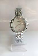 Женские наручные часы Tissot (Тиссот), серебристо-белый цвет
