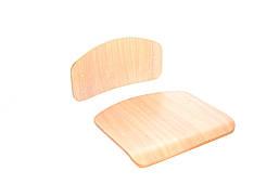 Комплект спинки (330х160мм) и сидения (320х330)  гнутоклееные №4, лак (без сверления/со сверлением)