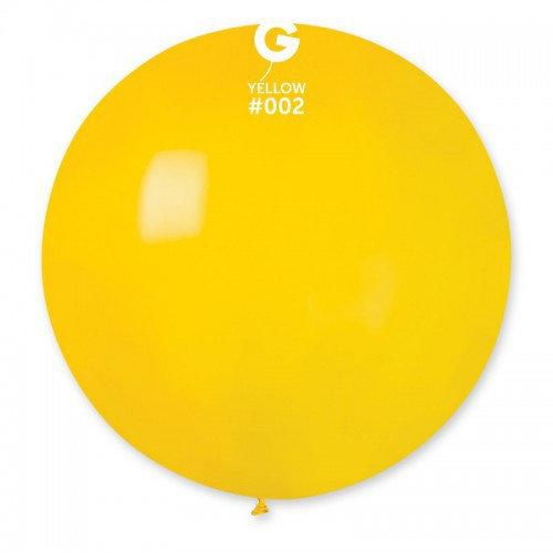"Шар сюрприз  ЖЕЛТЫЙ 31"" (80 см). Шарики воздушные гиганты Gemar"