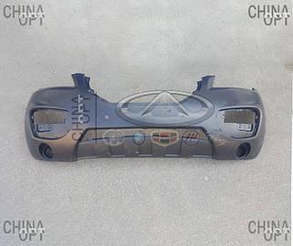 Бампер передний, пластик, черный, не крашеный, Lifan X60 [1.8], S2803110, Aftermarket