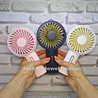 Мини-вентилятор портативный Handhald Fan F20 Pink. Ручной вентилятор с аккумулятором F20 Розовый, фото 10