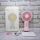 Мини-вентилятор портативный Handhald Fan F20 Pink. Ручной вентилятор с аккумулятором F20 Розовый, фото 4