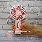 Мини-вентилятор портативный Handhald Fan F20 Pink. Ручной вентилятор с аккумулятором F20 Розовый, фото 2