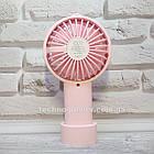 Мини-вентилятор портативный Handhald Fan F20 Pink. Ручной вентилятор с аккумулятором F20 Розовый, фото 6