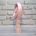 Мини-вентилятор портативный Handhald Fan F20 Pink. Ручной вентилятор с аккумулятором F20 Розовый, фото 7