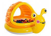 Детский надувной бассейн Intex Улитка с навесом 57124