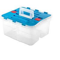 Ящик пластиковый с двумя отделениями, Heidrun Caddy 38*35*25см (HDR-1636)