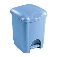 Ведро для мусора с крышкой и педалью 6л, Heidrun REFUSE, 23*23*30см (HDR-1410)