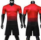 Футбольная форма ElitSport Milan (черная/красная), фото 5