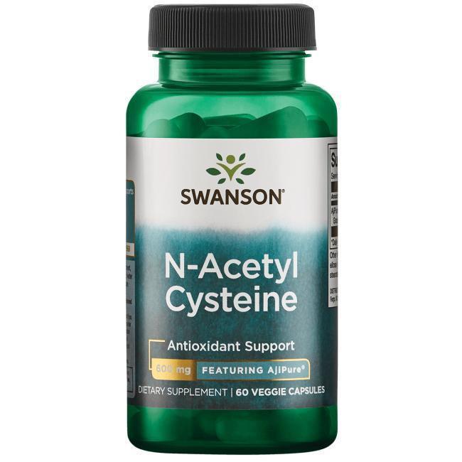 N-ацетил L-тирозин, Acetyl, Swanson, 350 мг, 60 капсул