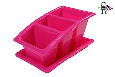 Лоток для столовых приборов с поддоном Heidrun Kitchen Mix 22*14*11,5см (HDR-2213)