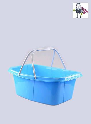 Миска-корзина господарська з ручками 26л, Heidrun Laundry 57 * 40 * 20см (HDR-349), фото 2